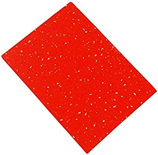 MasterChinese 100 Sheets A4 8.2x11.8 Inches Printable Rice Paper for Printer (Red - Golden Specks) Half Ripe