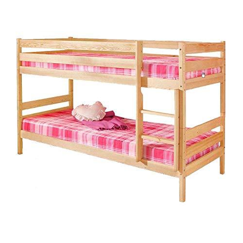 silenta Etagenbett mit 2 Bettrollkästen Trend Einrichtung für Kinderzimmer, 2 Roste, teilbar in 2 baugleiche Betten, Massivholzmöbel aus nachhaltiger Waldwirtschaft,(geölt Natur)