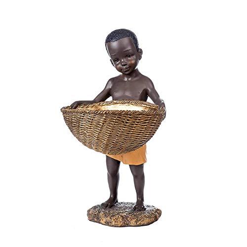 Para oficinas jardín sala de familia ornamentos abstractos figurines arte regalo abstracto y creativo escritorio decoraciones estatua, resina extracto carácter escultura negro hombre almacenamiento es
