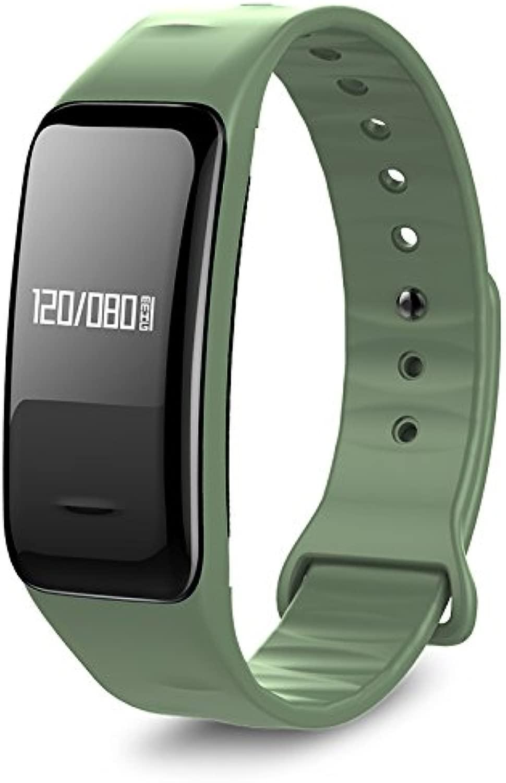 Atlanta Fitness Tracker mit Herzfrequenz GPS Pulsmesser Blautdruck Sauerstoff Smartwatch Arm d Uhr 9700