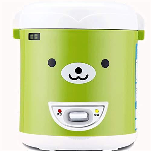 Reiskocher mikrowellen Reiskocher (1 Liter / 200W / 220V) Home Intelligente Isolierung Multifunktionsqualität Innentopf Löffel Steamer und Messbecher Kleine Geräte können bis zu 2 Personen aufnehmen
