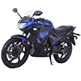 Lifan 200cc Adult Motorcycle Gas Motorcycle Street Motorcycle Moped Scooter KPR 200 Fuel Injection Fully Assembled (Blue)