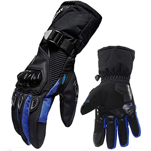 Muitech Guantes Térmicos Para Motos Para Motociclistas Para Motociclismo Impermeables Con Protecciones Contra el viento Para pantallas táctiles Resistentes a caídas (XXL, Azul)