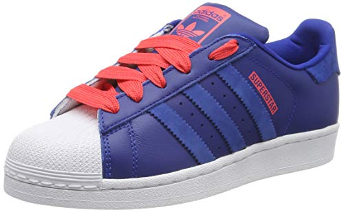 adidas Unisex-Kinder Superstar Gymnastikschuhe, Blau (Collegiate Royal/Shock Red), 38 2/3 EU (5.5 UK)