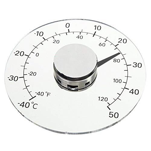 Außenthermometer Fenster Analog Garten Haushalt Bleifreie Selbstklebende Fenstertüren Und Fenster Transparent Wasserdicht Thermometerfreie Batterie