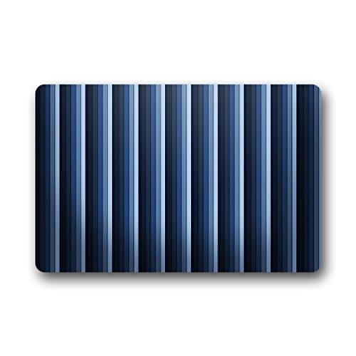Doubee générique Design Paillasson Rayures Bleu Marine Premium Tapis Anti-Poussière Maison passwort 46 cm x 76 cm, Tissu, E, 18\