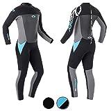 Osprey Origin Neoprenanzug Damen 5mm Lang Winter Wetsuit und Surfanzug, Blau, Mittel Lang (MT)