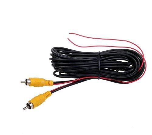 Standard Videokabel 12 V Cinch RCA mit Reverseleitung 20 Meter länge für Monitor Rückfahrkamera Rückfahrsystem YMPA VK-RCAS20R