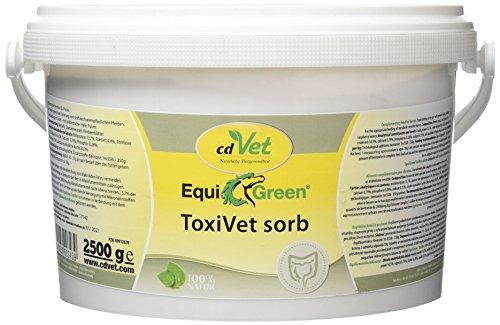 cdVet natuurproducten EquiGreen ToxiVet sorb 2,5 kg - paarden - ondersteunt de darmgezondheid - bindt gifstoffen in de darm - B-vitaminen + spoorelementen + essentiële aminozuren - beschermbarrière -