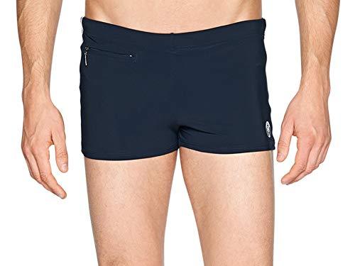 Marc O'Polo Body & Beach Herren BADE-Shorts Badeshorts, Schwarz (Blauschwarz 001), Medium