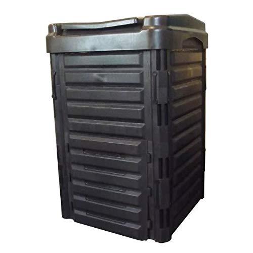 StarSun Depot Heavy Duty Black Plastic Compost Bin for Home Garden Composting 80-Gallon