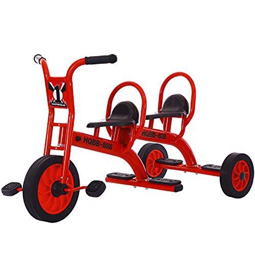 Sharesun Trike Fietsen van koolstofstaal, kinderwagen, driewielers, dubbele zitplaatsen voor tweelingen, baby's, 3 wielen