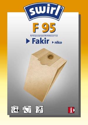Swirl Staubsaugerbeutel F95 / F 95 für Fakir Staubsauger S10, S12