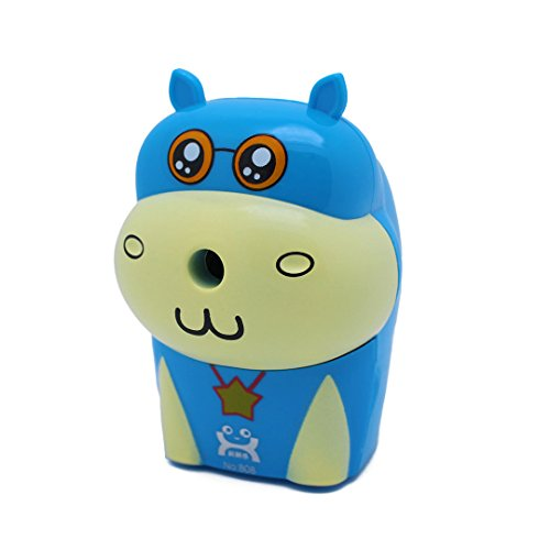 Naimo Cute Cartoon Design Automatic Pencil Sharpener for Home Office or School (Blue)