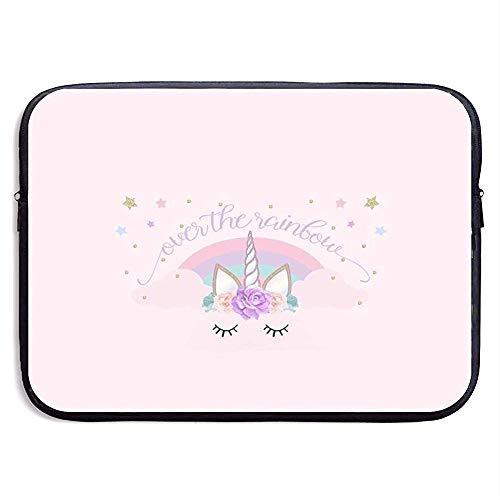 Laptop Sleeve tas Beschermende Case Roze unciorn Cat Cover voor Alle Computer Notebook 13 Inch