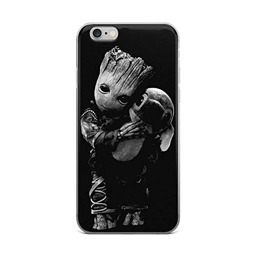 JINPIN Pure Clear Case Transparant Zachte TPU Beschermhoes Baby Groot Knuffels Stitch, iPhone 6 Plus/6s Plus