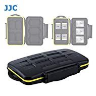 JJC MC-XQDSD7 Ruggard SD Card Case, Shockproof XQD Case, Water-Resistant XQD Case Case, Rubber Sealed Ergonomic Locking Easy Carrying Memory Card Case fits 4 SD Cards 3 XQD Cards