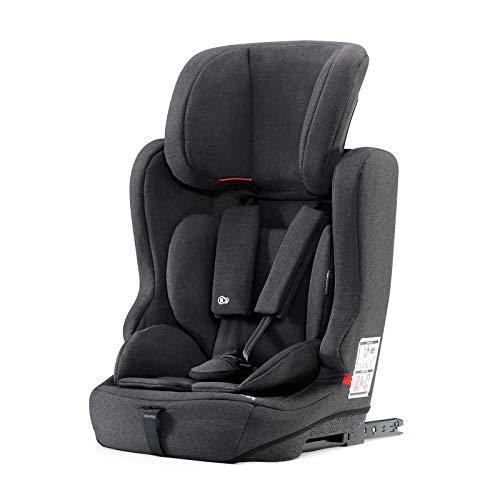 Kinderkraft Kinderautositz FIX2GO, Autokindersitz, Autositz, Kindersitz mit Isofix, Gruppe 1/2/3 9-36kg, 5-Punkt-Sicherheitsgurt, ECE R44/04, Schwarz