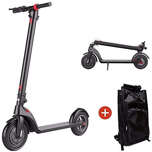 CHNG Scooter para Adultos, 25 km de Larga Distancia, hasta 32 km/h con neumáticos de vacío de 8,5 Pulgadas, Scooter eléctrico portátil y Plegable rápidamente para viajeros Gris