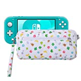Lamyba Carrying Case Cover Sleeve for Nintendo Switch/Switch Lite with Game Slots and Shoulder Strap, Inspired by Animal Crossing: New Horizons, Island Pattern