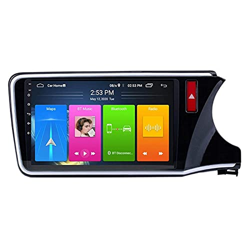Reproductor multimedia estéreo para coche Android 8.1 para Honda City 2015-2018, pantalla táctil capacitiva de 10.1 pulgadas/FM/RDS/Bluetooth/Mirrorlink/SWC/cámara de visión trasera