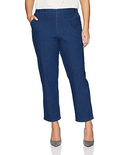 JUST MY SIZE Women's Apparel Women's Plus Size Stretch Pull On Jean, Indigo, 1X Petite