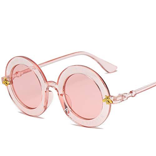 Gafas De Sol Redondas Tamaño medio Hoja de polvo de caja en polvo