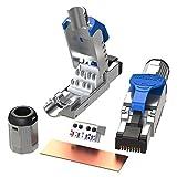 [LINKUP] 2 個入り - Cat6A RJ45 10G シールド ダイカスト メタルフィールド ターミネーション プラグ | HDBaseT Easy ジャック | イーサネット コネクタ | インターネット アダプター [ブルー]