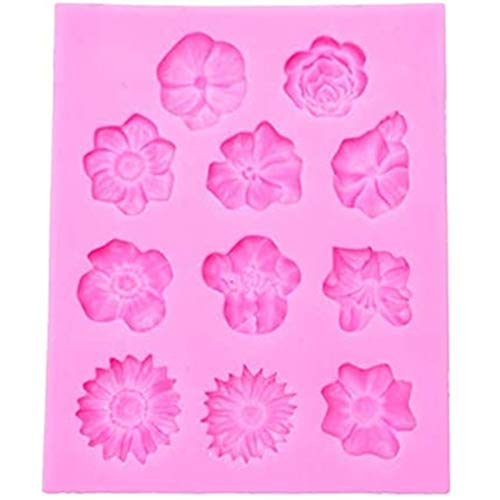 3d Rose Flower Silicone Fondant Mould Border Cake Moulds Cake Making Decorations Pastry Diy Tool (Grey)