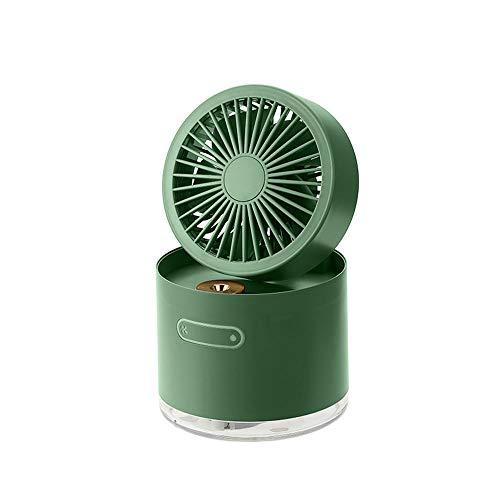LWJDM Ventilador De Nebulización Portátil USB Eléctrico Recargable Mini Ventilador De Mano Humidificador De Aire Acondicionado De Enfriamiento para La Oficina del Coche del Dormitorio Casero,Verde