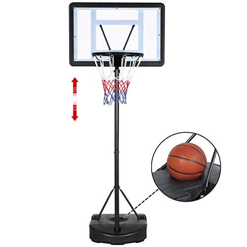 Yaheetech 7.2-9.2ft In-Ground Basketball System Portable Removeable...
