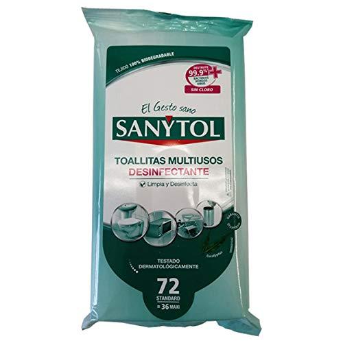 Sanytol Toallitas Desinfectantes Multiusos - 1 unidad x 30 toallitas