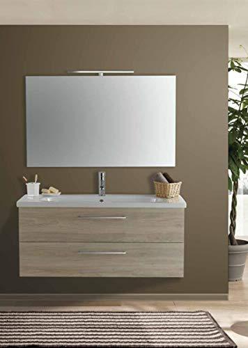 Set Mobile Lavabo Specchio LED Arredo Bagno Moderno Londra120 CERAMICHEMIRANDA-Toronto