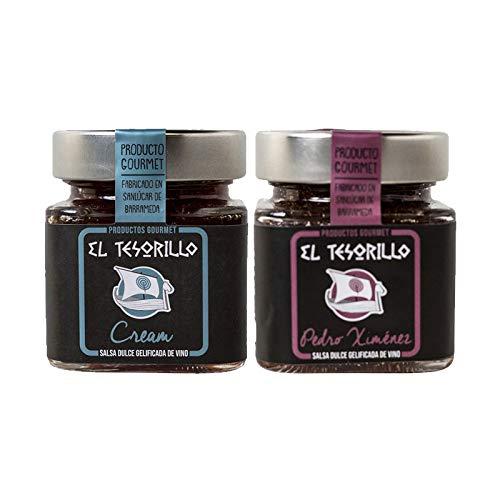 Pack de Mermeladas de Vino Cream y Pedro Ximenez - 2 tarros de 150 g cada uno - Mezclanza El Tesorillo Gourmet