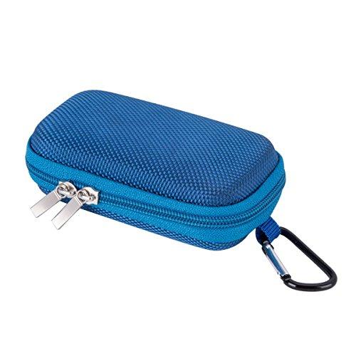 AGPTEK Tragbare Muschelschale Kasten mit Metall Karabiner Clip Mezzanine Netz für MP3 Player, iPod...