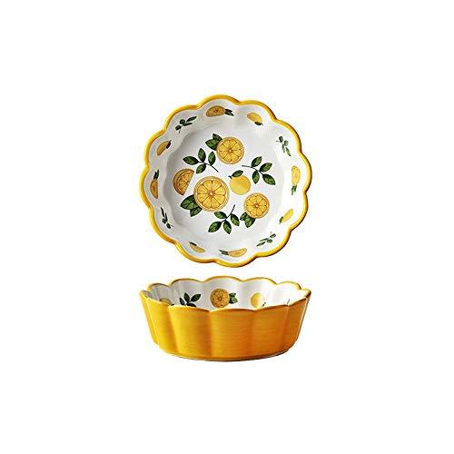 ZZYJYALG cuenco Cereal irrompible porcelana cuencos, cuencos de yogur, Pasta Bowl, Gran plato de sopa, fruta, cuenco de cerámica, cuencos de cocina, arroz Bowl, microondas y lavavajillas seguro, juego