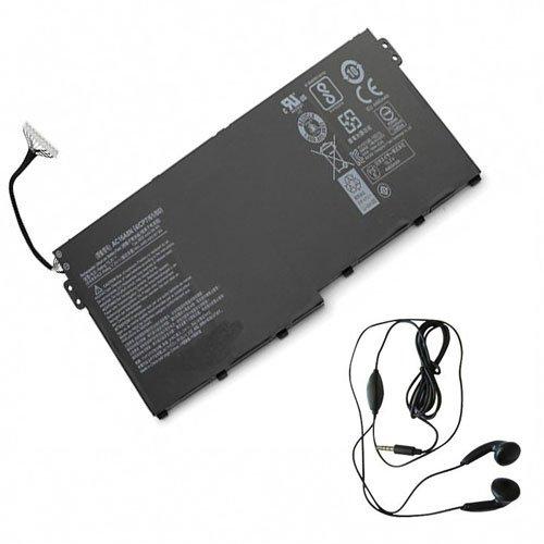 Amsahr ACRAC16A8N-03 - Batería de reemplazo para Acer AC16A8N, Aspire V15 Nitro BE VN7-593G (Incluye Auricular estéreo) Color Gris
