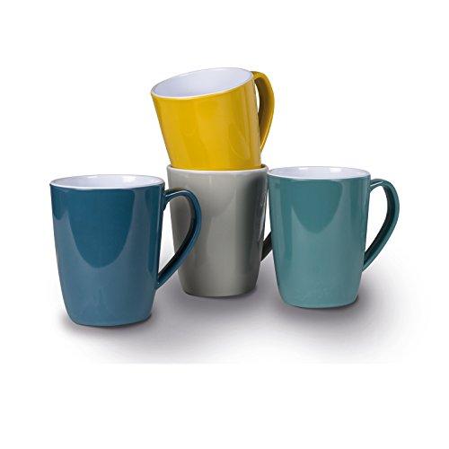 Siehe Beschreibung Melamin Tassenset in verschiedenen, frischen Farben 4 Stück aus spülmaschinengeeignet • Campinggeschirr Geschirr Personen Picknick Camping Geschirrset