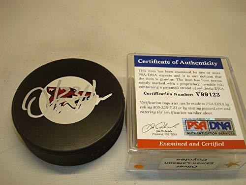 Oliver Ekman-Larsson Signed Arizona Coyotes Hockey Puck Autograph PSA/DNA COA 1A - Autographed NHL Pucks