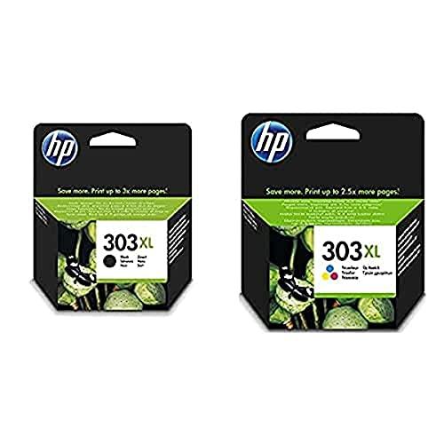 HP 303XL Original - Paquete de 2 Cartuchos de Tinta, Negro/Tricolor