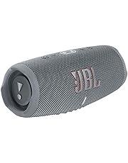 JBL CHARGE5 Bluetoothスピーカー 2ウェイ・スピーカー構成/USB C充電/IP67防塵防水/パッシブラジエーター搭載/ポータブル/2021年モデル グレー JBLCHARGE5GRY 【国内正規品/メーカー1年保証付き】