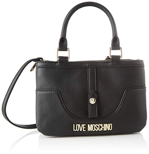 Love Moschino Damen Jc4214pp0a Kuriertasche, Schwarz (Black), 10x16x24 Centimeters