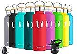 Super Sparrow Trinkflasche Edelstahl Wasserflasche - 750ml - Isolier Flasche mit Perfekte Thermosflasche für das Laufen, Fitness, Yoga, Im Freien und Camping | BPA FREI
