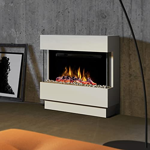Noble Flame Lima Standkamin Elektro-Kamin - Elektroeinsatz Paris 660 Button – LED Flammeneffekt...