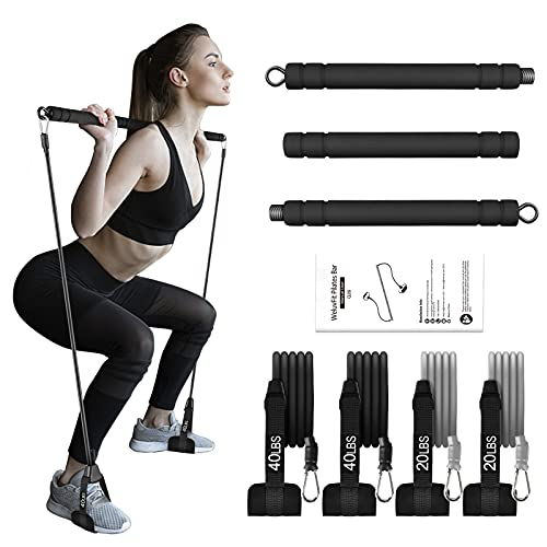 Pilates Bar with Adjutable Resistance Bands Now $19.49
