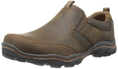 Skechers mens Relaxed Fit Montz - Devent loafers shoes, Dark Brown, 10.5 US