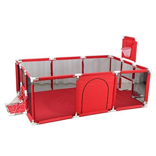 no brand Parcs for Enfants, 128x128x66cm bébé Parc intérieur Jeux d'extérieur Sea Ball Pool Playpen avec Basketball Hoop (Size : 190x129x66cm)