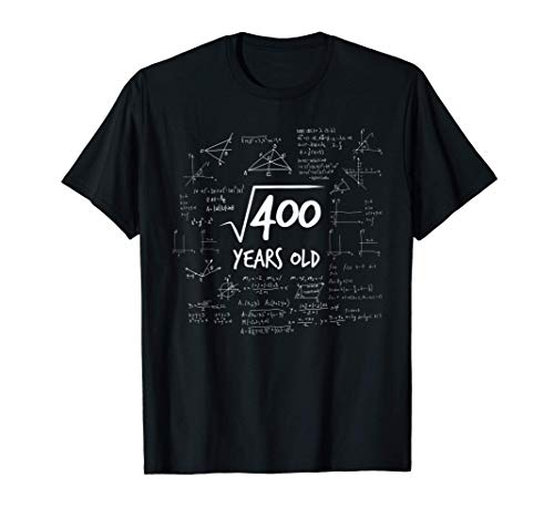 20 ° compleanno - radice di 400 matematica nerd matematica Maglietta