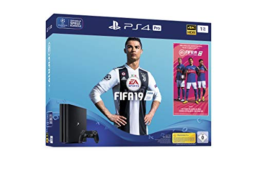 Sony PlayStation 4 Pro 1TB + FIFA 19 Negro 1000 GB Wifi - Videoconsolas (PlayStation 4 Pro, Negro, 8192 MB, GDDR5, AMD Jaguar, AMD Radeon)