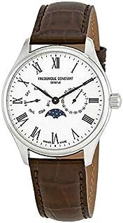 Frederique Constant Classics Silver Dial Leather Strap Men's Watch FC260WR5B6DBR